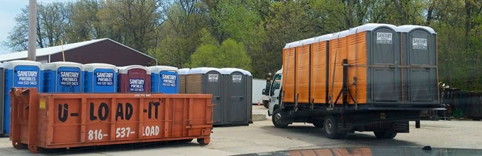 Portable Toilet Rental in Lee's Summit MO from U-LOAD-IT Dumpsters